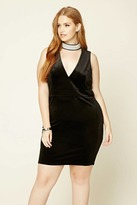 Forever 21 Plus Size Velour Shift Dress