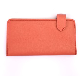 Hiva Atelier Fluctus Leather Wallet Coral