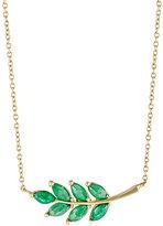 Finn Women's Emerald Leaf Charm Necklace