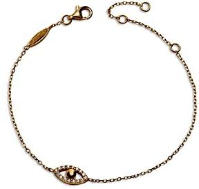 BaubleBar Ojo Cubic Zirconia Evil Eye Link Bracelet in 14K Gold Plated Sterling Silver