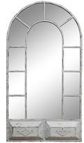 SAGEBROOK HOME Vintage White Window Mirror - 24 x 44.38