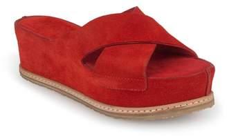 Italeau Marena Strappy Waterproof Suede Platform Sandal