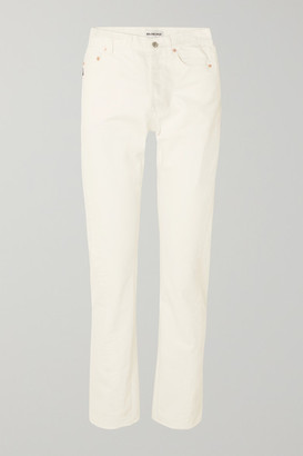 Balenciaga Twisted High-rise Straight-leg Jeans - White