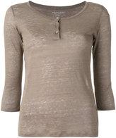 Majestic Filatures henley longsleeved T-shirt - women - Linen/Flax - 3