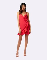 Forever New Marley Wrap Ruffle Dress