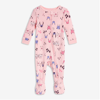 Joe Fresh Baby Girls' Footed Sleeper, Light Pink (Size 0-3)