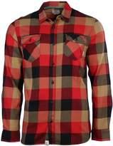 Vans Men's Box Flannel Plaid Long Sleeve Shirt (, Black/Light Blue)