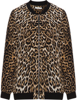 Studio Plus Size Animal print bomber jacket