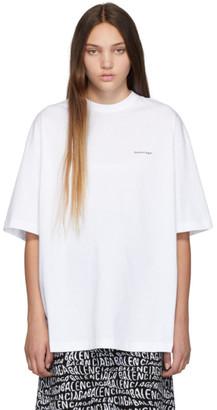 Balenciaga White Oversized Classic T-Shirt