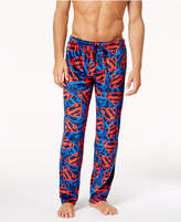 Briefly Stated Men's Superman-Print Fleece Pajama Pants