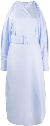 Erika Cavallini Cold Shoulder Midi Dress