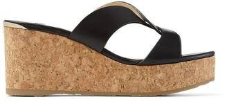 Jimmy Choo Atia 75mm wedge sandals
