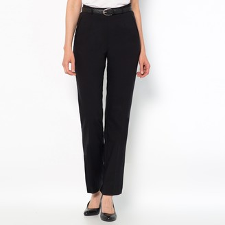 """Anne Weyburn Straight Cut Smart Trousers with Tummy-Toning Effect, Length 30.5"""""""