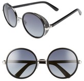 Jimmy Choo Women's Andiens 54Mm Round Sunglasses - Palladium/ Black