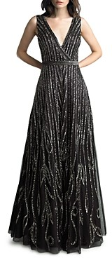 Basix II Beaded Sleeveless Gown