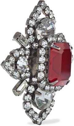 Elizabeth Cole Annabeth Hematite-plated Swarovski Crystal Earrings