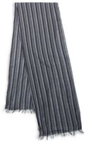 John Varvatos Striped Silk Blend Scarf