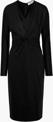 Diane von Furstenberg Regina Twist-front Silk-trimmed Jersey Dress
