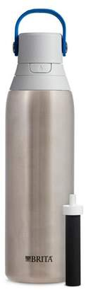 Brita Premium 20oz Filtering Double Wall Insulated Water Bottle with Filter BPA Free - Stainless Steel