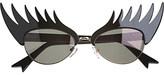 Tatty Devine Eyelash round-frame sunglasses