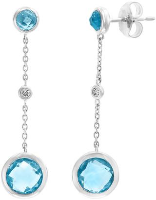 Effy Fine Jewelry 14K 3.04 Ct. Tw. Diamond & Blue Topaz Earrings