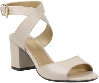 J. Renee Leather Ankle-Strap Sandals - Drizella