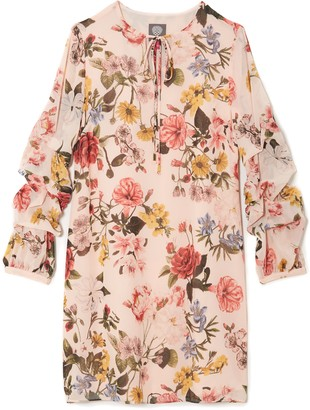 Vince Camuto Floral-Print Long-Sleeve Shift