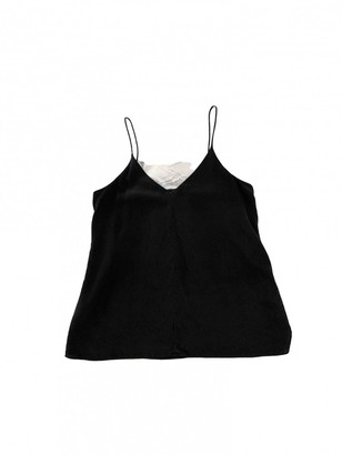Country Road Black Silk Top for Women