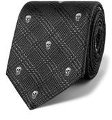 Alexander McQueen Skull-Jacquard Silk Tie