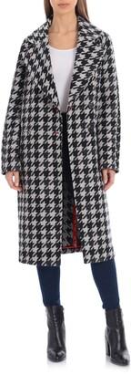 AVEC LES FILLES Houndstooth Oversize Double Face Coat