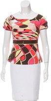 Emilio Pucci Print Short Sleeve T-Shirt