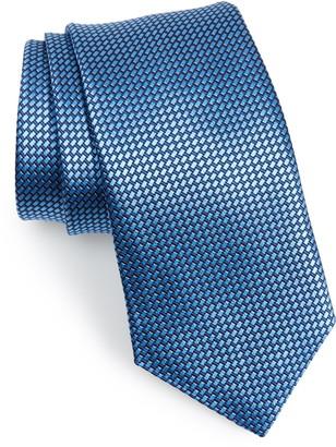 David Donahue Basketweave Silk Tie