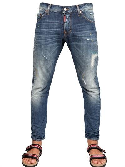 DSquared 16.5cm Cerulean Kenny Twist Denim Jeans
