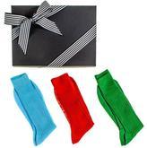 Black Bright Egyptian Cotton Lisle Socks Gift Set