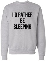 American Tee Co. I'd Rather Be Sleeping Unisex Mens Womens Crewneck Sweatshirt Jumper Pullover, Heather, XL