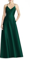 Alfred Sung Strappy Sateen A-Line Gown