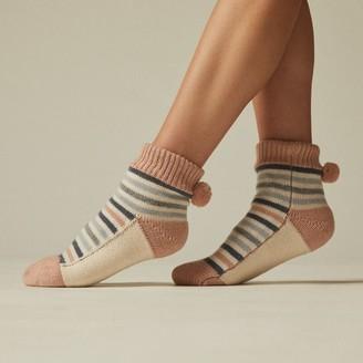 Indigo Daydream Lo-Rise Reading Socks Blush