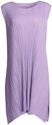 Pleats Please Issey Miyake Mellow Pleats Sleeveless Swing Dress