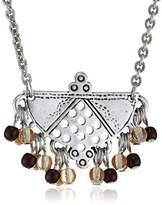 Scooter SY60226085 Djanet-Women's Necklace Silver-Plated Metal Choker Necklace Mother-of-Pearl-multi Brown