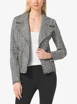 Michael Kors Frayed Tweed Jacket Plus Size