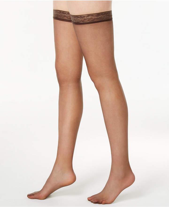 b6b7758ac Sheer Black Lace Thigh Highs - ShopStyle
