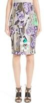Versace Print Pencil Skirt