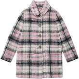 Jigsaw Girls' Pretty Checked Coat, Multi
