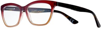 Foster Grant Women's Modera by Kara Ombre Wayfarer Reading Glasses