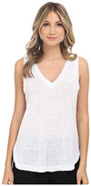 Heather Linen V-Neck Tank Top