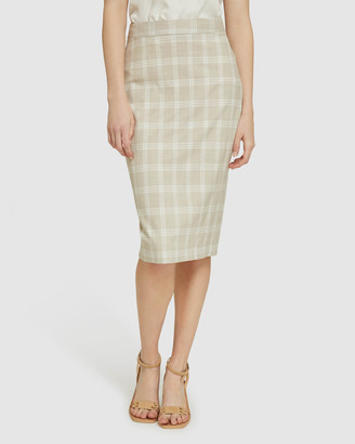 Oxford Women's Pencil skirts - Peggy Check Suit Skirt - Size One Size, 6 at The Iconic