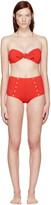 Lisa Marie Fernandez Red Poppy Button Bikini