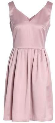 Raoul Pleated Satin-crepe Mini Dress