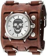 Nemesis 'Skull Head Series' Quartz Stainless Steel and Leather Watch, Color:Brown (Model: BFWB935S)