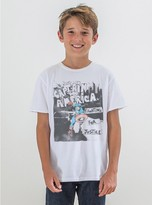 Junk Food Clothing Kids Boys Captain America Tee-electric White-l